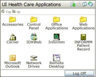 Remote Access Applications Screen